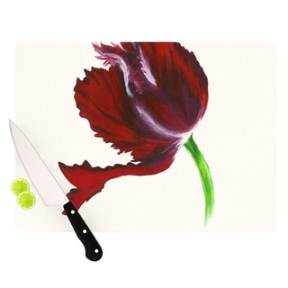 "KESS InHouse Lydia Martin ""Dark Purple Tulip"" Cutting Board"