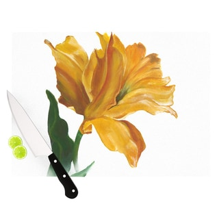 "KESS InHouse Lydia Martin ""Yellow Tulip"" Cutting Board"