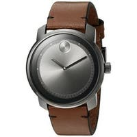 Movado Men's 3600366 'Bold' Brown Leather Watch