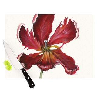"KESS InHouse Lydia Martin ""Open Tulip"" Cutting Board"