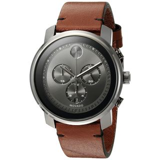 Movado Men's 3600367 'Bold' Chronograph Brown Leather Watch