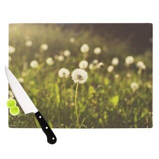 "KESS InHouse Libertad Leal ""As You Wish"" Dandelions Cutting Board"