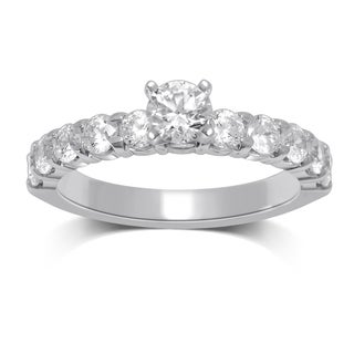 Unending Love's 1 1/3ct TW Round, Centered Diamond Engagement Ring (HI, I1-I2)