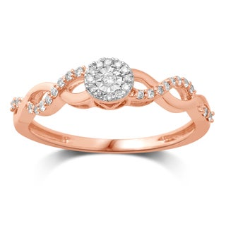 Unending Love 10k Gold Diamond Promise Ring