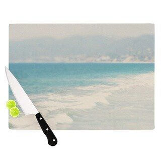 "KESS InHouse Laura Evans ""Waves"" Blue Gray Cutting Board"