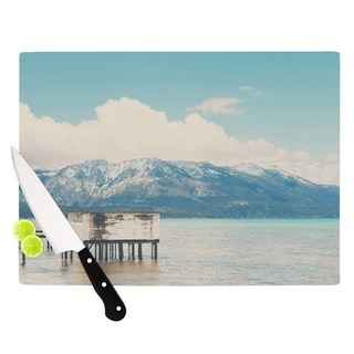 "KESS InHouse Laura Evans ""Down By The Lake"" Blue Brown Cutting Board"