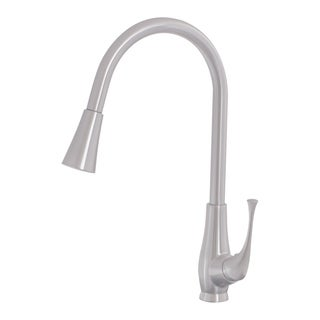 Novatto Single Lever Pull-down Kitchen Faucet, Brushed Nickel Finish