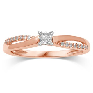 Unending Love 10K Rose Gold Diamond Promise Ring