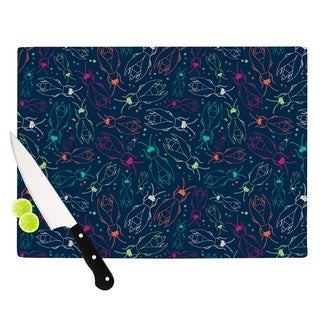 "KESS InHouse Laura Escalante ""Fireflies Midnight Garden"" Dark Blue Cutting Board"