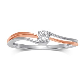 Unending Love Gold Diamond Two-tone Fashion Ring