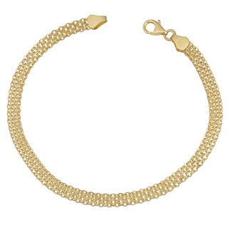 Fremada Italian 14k Yellow Gold 4.5-mm Bismark Bracelet (7.5 inches)