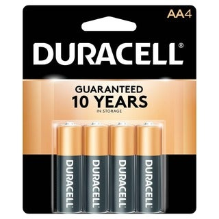 Duracell 4133303561 AA Long Lasting Power Alkaline Batteries 4-count