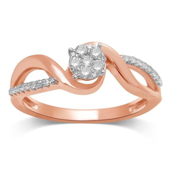Shop Unending Love 10K Rose Gold 1/4 Ctw Diamond ( I-J