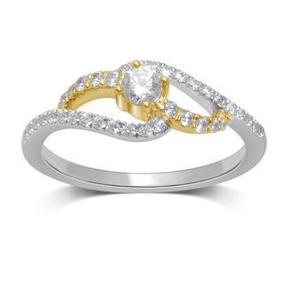 Unending Love 10k Gold Diamond 3/8 CT TW (IJ I2-I3) Two-tone Ring