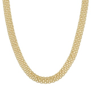 Fremada Italian 14k Yellow Gold 4.5mm Bismark Necklace (18 or 20 inches)