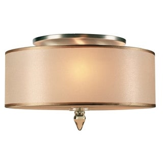 Crystorama Luxo Collection 3-light Antique Brass Semi-Flush Mount
