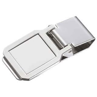 Visol Monroe Solid Metal Hinged Money Clip