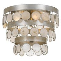 Crystorama Coco Collection 4-light Antique Silver Flush Mount
