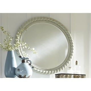 Harbor Dove Gray Cottage Round Rope Mirror