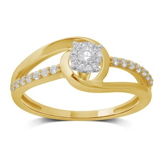 Unending Love's 4ct TW Two-Toned Cluster-Head Engagement Ring (I-J, I1-I2)
