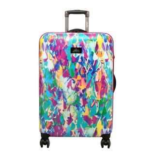 Skyway Luggage Haven 24-Inch Festive Shade Hardside Spinner Upright Suitcase