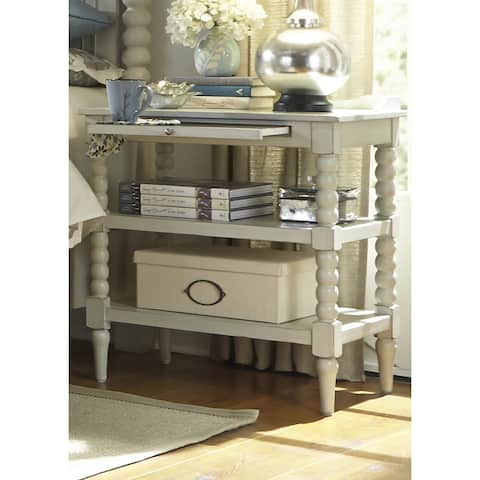 Harbor Dove Gray Cottage 2-Shelf Open Nightstand