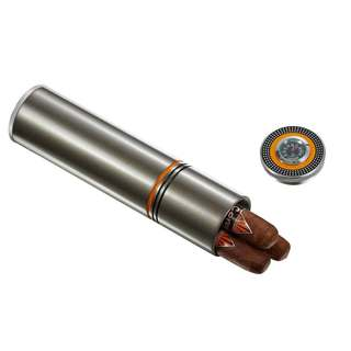 Visol Little Joe Travel Cigar Humidor - Satin Gunmetal