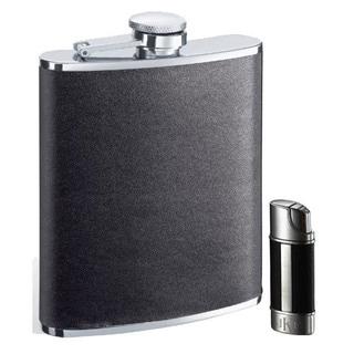 "Visol ""Zano"" and ""Piccolo"" Flask and Lighter Gift Set"