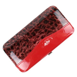 Bdeals Manicure Pedicure Red Leopard Print Stainless Steel 11-piece Nail Tool Kit