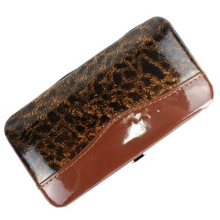 Bdeals Manicure Pedicure Brown Leopard Print Stainless Steel 11-piece Nail Tool Kit