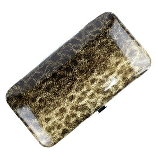 Bdeals Manicure Pedicure Gold Leopard Print Stainless Steel 11-piece Nail Tool Kit