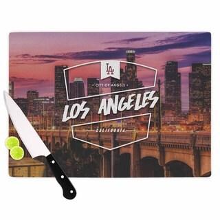 KESS InHouse Kess Original 'Los Angeles ll' Pink Purple Cutting Board