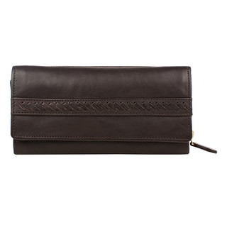 Hidesign Mina Leather Trifold Wallet