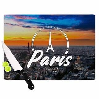 KESS InHouse Kess Original 'Paris' Blue Travel Cutting Board