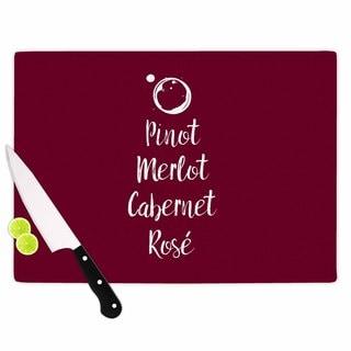 KESS InHouse Kess Original 'Pinot, Merlot, Cabernet, RosAA' White Red Cutting Board