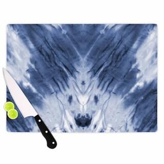 KESS InHouse Kess Original 'Blue Dye' White Pattern Cutting Board