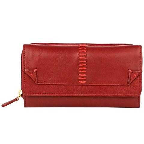 Hidesign Stitch Tri-fold Leather Wallet