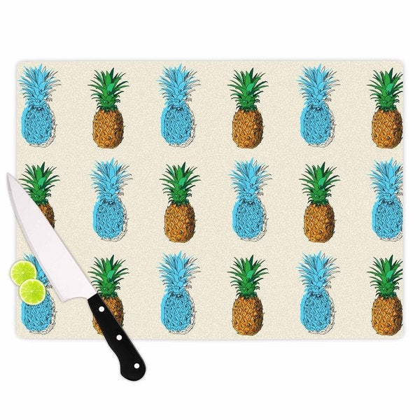 "KESS InHouse Kess Original ""Fineapple"" Food Abstract Cutting Board"