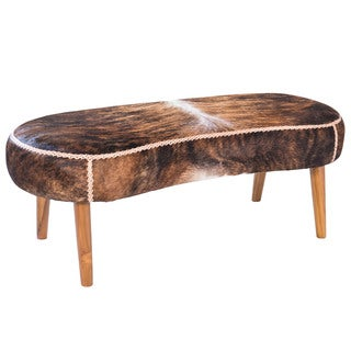 Harley Cowhide Bench, Brown (Indonesia)