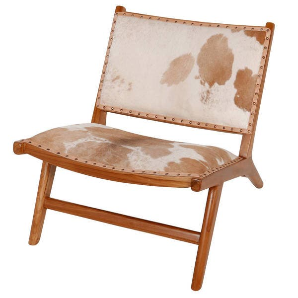 Fabulous Shop Handmade Harley Low Rider Cowhide Lounge Chair Brown Short Links Chair Design For Home Short Linksinfo
