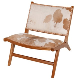 Harley Low Rider Cowhide Lounge Chair, Brown (Indonesia)