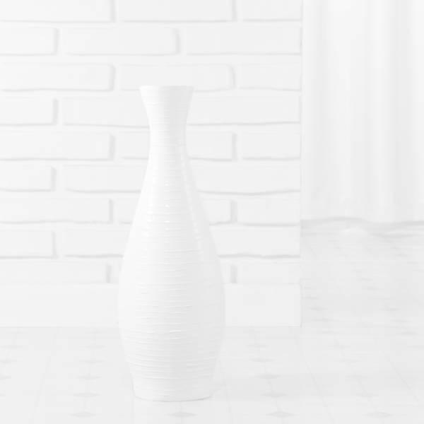 Handmade PoliVaz Pure White Trumpet Vase (Indonesia)