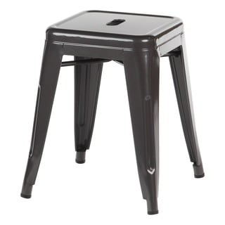 Metal Industrial Distressed Gun Metal 18-inch Stool  sc 1 st  Overstock.com : 18 inch stool for kitchen - islam-shia.org