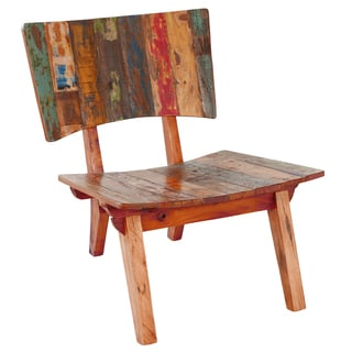 Oversized Reclaimed Fishing Boat Wood Lounge Chair (Indonesia)