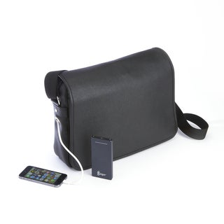 Royce Leather Power Bank Charging Luxury 15-inch Laptop Messenger Bag