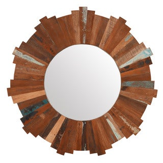 Indian Sun Reclaimed Mirror 36 inches