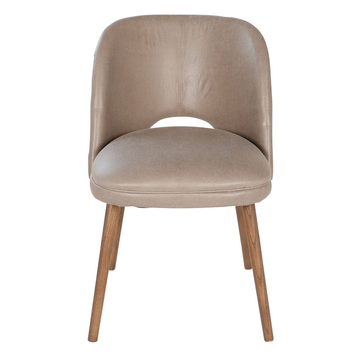 Picture of: French Barrel Back Grey Faux Leather Dining Chair Overstock 13112353