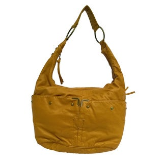 Donna Bella Katlin Bueno Gold Faux-Leather Handbag