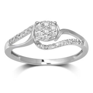 Unending Love 10k White Gold 1/4-carat TW I-J I2-I3 Diamond Fashion Ring