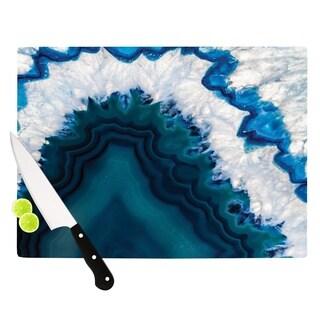 "KESS InHouse KESS Original ""Blue Geode"" Nature Photography Cutting Board"